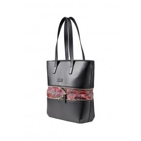 Damen Tasche mit abnehmbarer Laptoptasche Wenger Eva 13`, schwarz / blumig