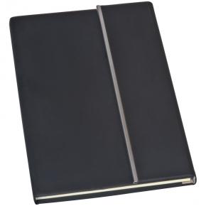 Notizbuch mit Metallstreifen