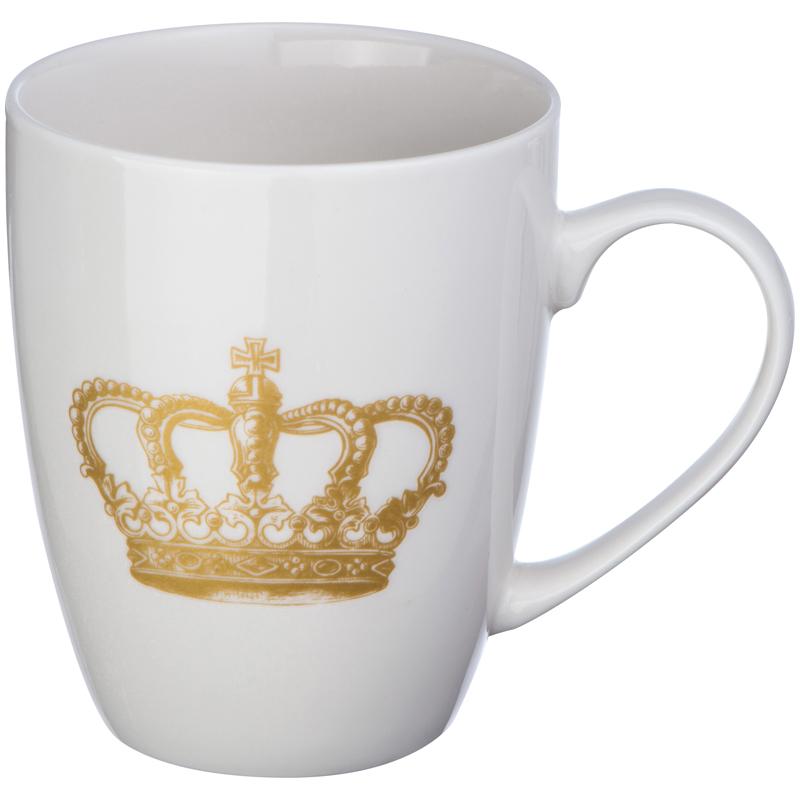 Tasse mit einem Kronendruck