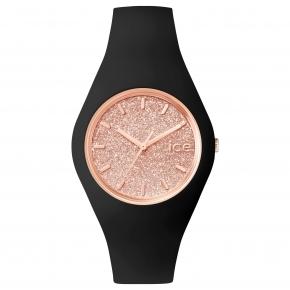 Armbanduhr ICE glitter-Black Rose-Gold-Medium