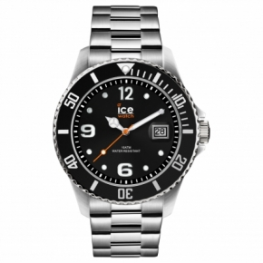 Armbanduhr ICE steel-Black silver-Large (L)Multicolor