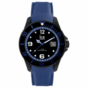 Armbanduhr ICE steel-Black-Large Blau