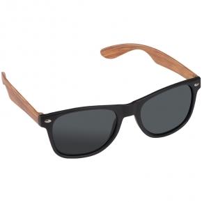 Sonnenbrille mit Bügeln in Holzoptik