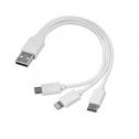 3 in 1 USB-Kabeltyp c + micro USB + Blitz