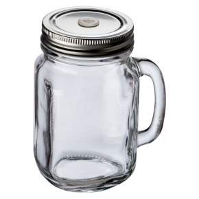 Trinkglas mit Griff und Deckel TREVISO