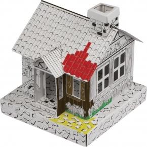 Karton Haus zum Ausmalen