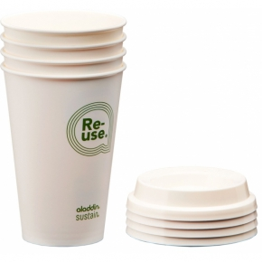 ALADDIN RE-USE CUP & LID 0,35 L (PACK OF 4)