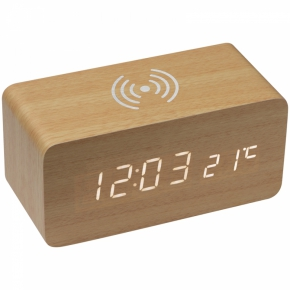 Schreibtischuhr mit intergriertem Wireless Charger