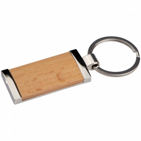 Schlüsselanhänger mit Holzstück