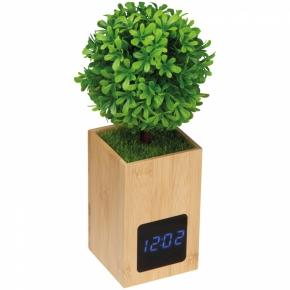 Bambus Tischuhr