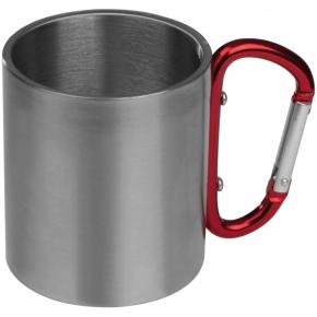 Tasse aus Metall mit Karabinerhaken