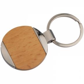 Metall-Holz-Schlüsselanhänger Langhaus