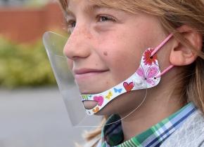 Gesichtsschutz am Kinn für KINDER