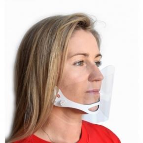 Gesichtsschutz am Kinn