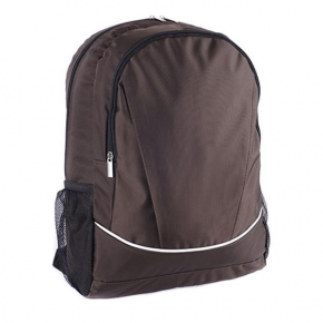 Jacquard backpack with side and front pockets