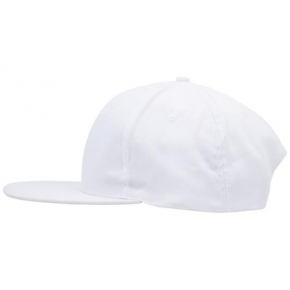 cotton flat peak cap with plastic closure, for adults