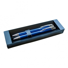 Aluminium ball pen and mechanical pencil set, gift box