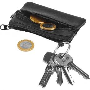 Rectangular leather coin purse