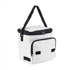 Foldable cooler bag with front pocket, P-600D