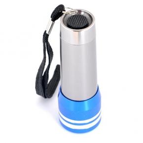 Aluminium flashlight with 9 LED.