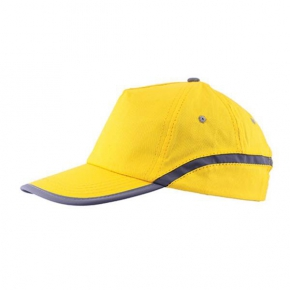 Adult cotton cap with reflector band