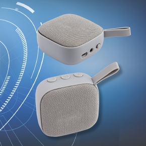Square shape ABS and polyester bluetooth speaker